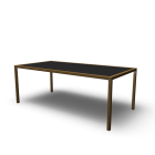 Tisch  mit eingefasster Platte von Flötotto