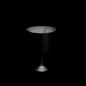 Spun Light T1 glänzend schwarz von Flos