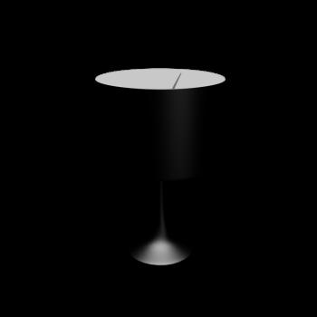 Spun Light T2 glänzend schwarz von Flos