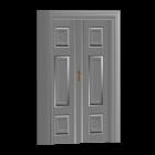 Holzflügeltür für die 3D Raumplanung