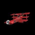 "Fokker DR.I ""Roter Baron"" für die 3D Raumplanung"