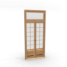 French door for your 3d room design