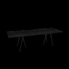 Loop Stand table, 250, black by HAY