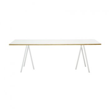 Loop Stand table, 160, white by HAY