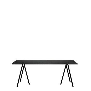 Loop Stand Tisch, 180, schwarz test von HAY