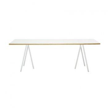 Loop Stand Tisch, 160, weiß von HAY
