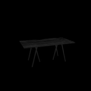 Loop Stand Tisch, 180, schwarz von HAY