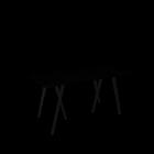 Loop Stand Tisch, 160, schwarz für die 3D Raumplanung