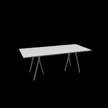 Loop Stand Tisch, 200, weiß von HAY