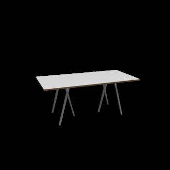 Loop Stand Tisch, 180, weiß von HAY