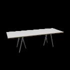 Loop Stand Tisch, 250, weiß von HAY