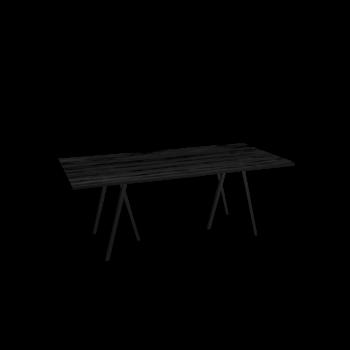 Loop Stand Tisch, 200, schwarz von HAY