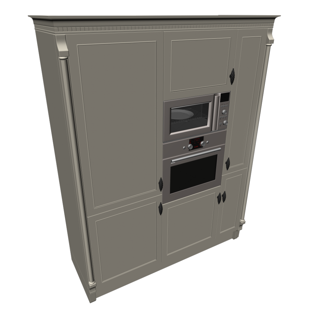 High Cabinet Matt Stainless Steel Design And Decorate