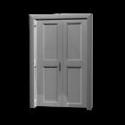 Holzdoppeltür für die 3D Raumplanung