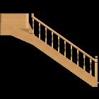 Holzecktreppe