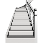 Holzecktreppe für die 3D Raumplanung