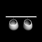 ASKER Aufhängeschiene + 2x Behälter für die 3D Raumplanung