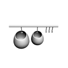 ASKER Aufhängeschiene + 2x Behälter klein und groß für die 3D Raumplanung