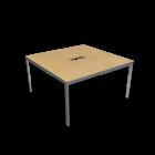 BEKANT Tischplatte 140 x 140 + Untergestell, Birkenfurnier von IKEA
