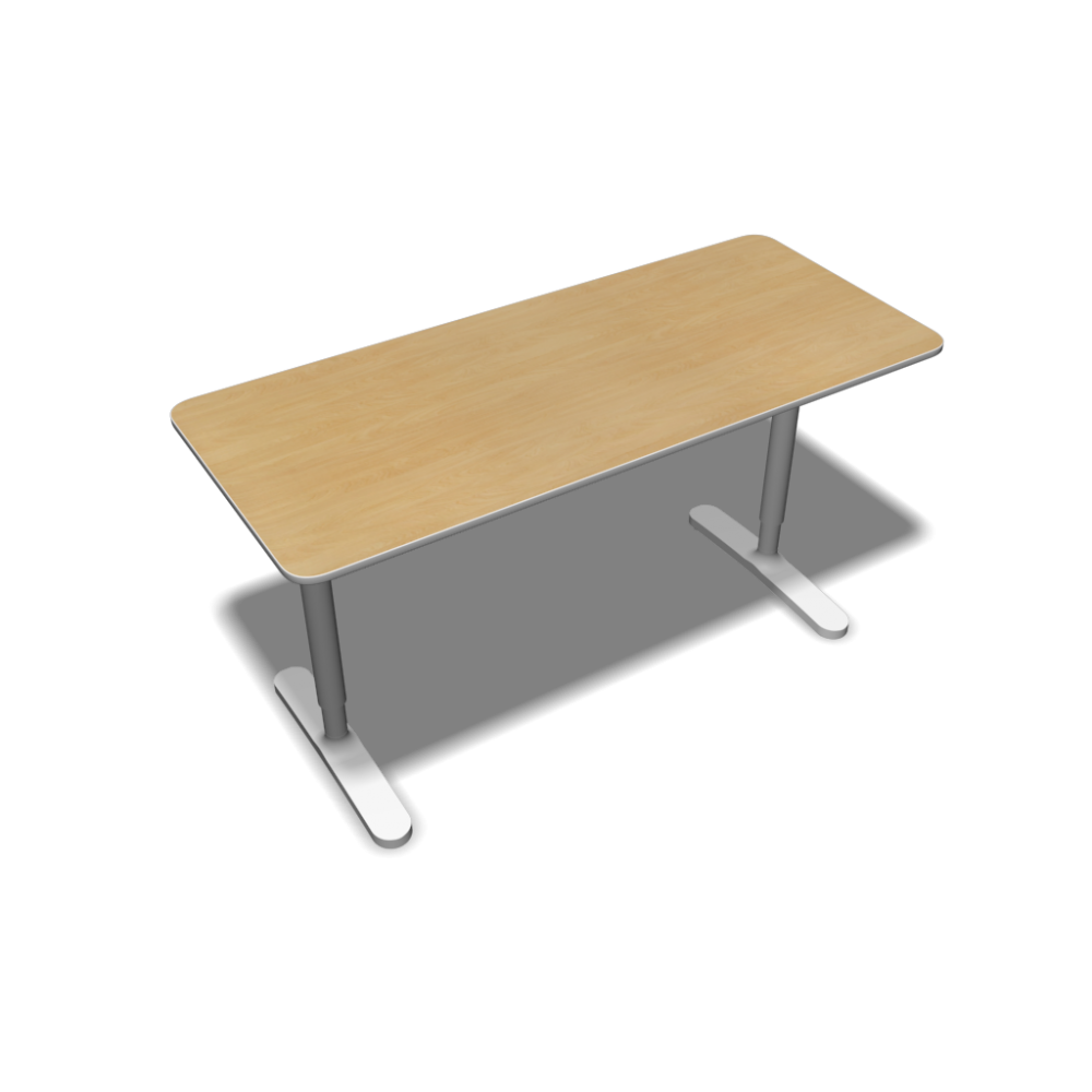 bekant table top 140 x 60 underframe birch veneer design and decorate your room in 3d. Black Bedroom Furniture Sets. Home Design Ideas