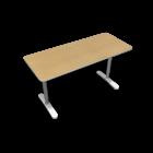 BEKANT Tischplatte 140 x 60 + Untergestell, Birkenfurnier von IKEA