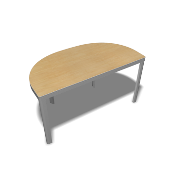 Bekant table top half round 140 x 70 underframe birch for Table 70x140