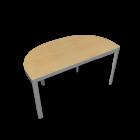 BEKANT Tischplatte halbrund 140 x 70 + Untergestell, Birkenfurnier von IKEA
