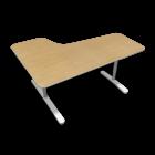BEKANT Tischplatte rechts 160 x 110 + Untergestell, Birkenfurnier von IKEA