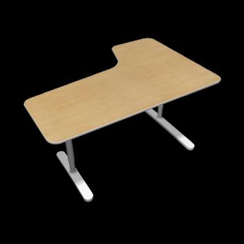 BEKANT Tischplatte links 160 x 110 + Untergestell, Birkenfurnier von IKEA