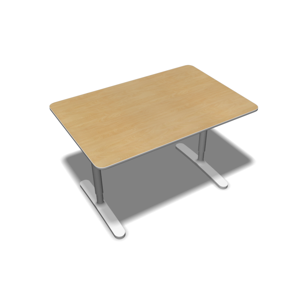 Bekant table top 120x80 underframe birch veneer for Table en pin ikea