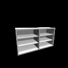 BESTÅ Regal, Aufsatzregal,weiß für die 3D Raumplanung