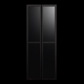 BILLY OLSBO Vitrinentür schwarzbraun von IKEA