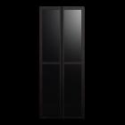 BILLY OLSBO Vitrinentür schwarzbraun für die 3D Raumplanung