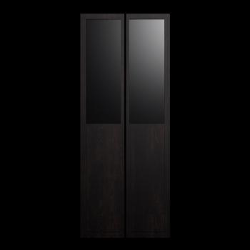 BILLY OLSBO Paneel-/Vitrinentür schwarzbraun 2x von IKEA