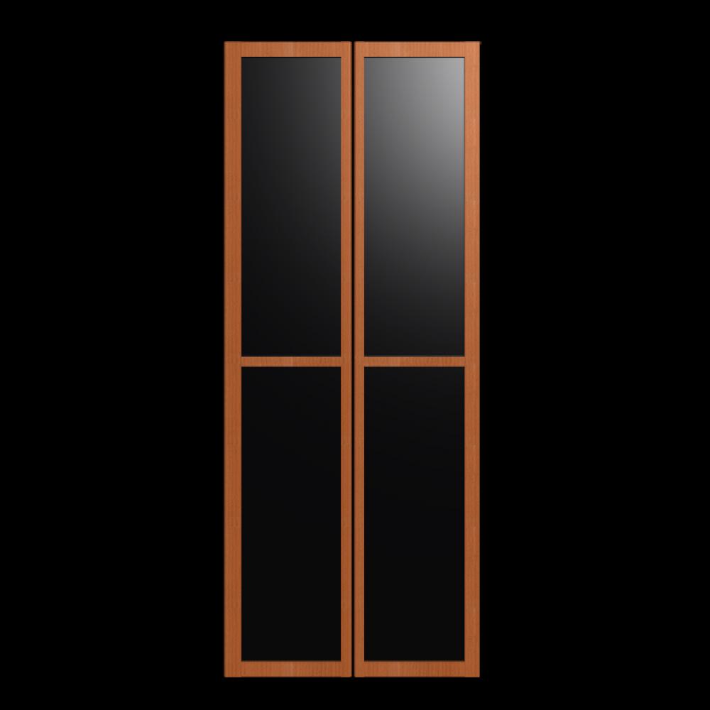 BILLY OLSBO Glass Door Medium Brown 2x Design And