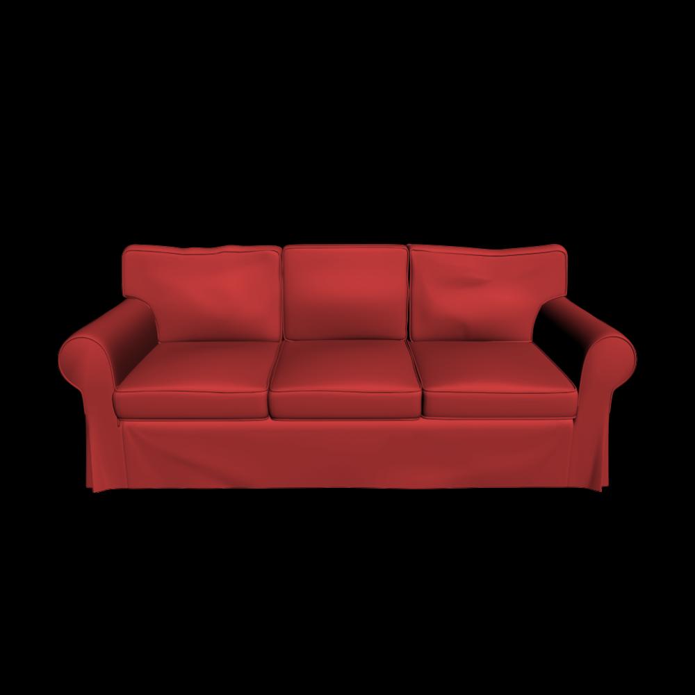 EKTORP 3er Sofa Einrichten & Planen in 3D