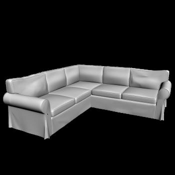 EKTORP Corner sofa 2+2 by IKEA