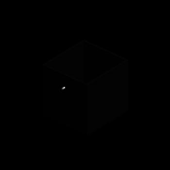 EXPEDIT Einsatz mit Schublade, schwarz von IKEA