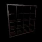 EXPEDIT Regal, schwarzbraun für die 3D Raumplanung