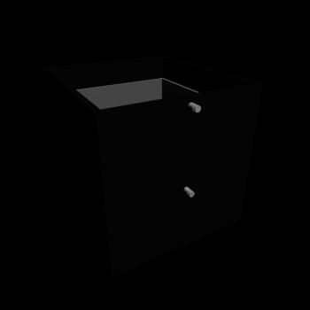 EXPEDIT Einsatz mit 2 Schubladen, schwarz von IKEA