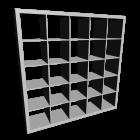 EXPEDIT Regal, weiß für die 3D Raumplanung