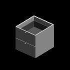 EXPEDIT Einsatz mit 2 Schubladen, weiß von IKEA