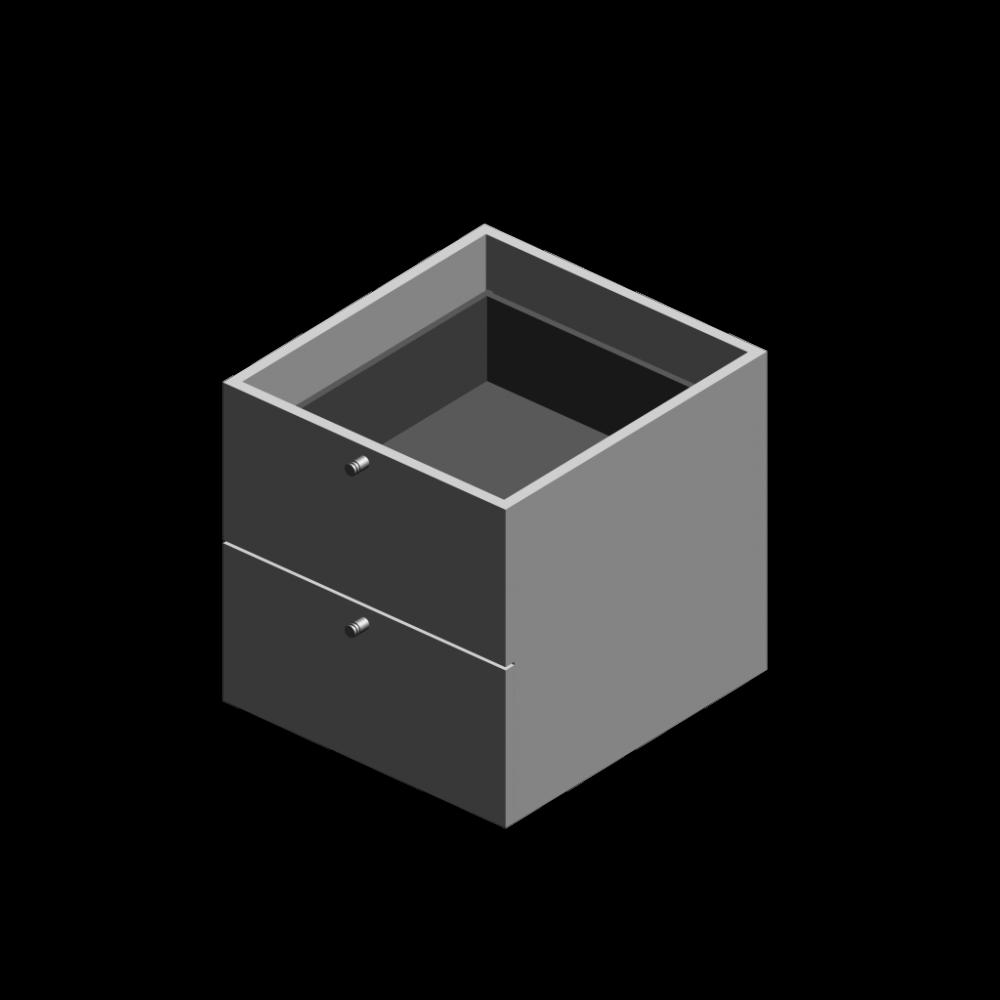 expedit einsatz mit 2 schubladen wei einrichten planen in 3d. Black Bedroom Furniture Sets. Home Design Ideas