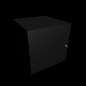 EXPEDIT Einsatz mit Tür, schwarz von IKEA