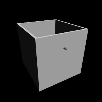 EXPEDIT Einsatz mit Schublade, weiß von IKEA