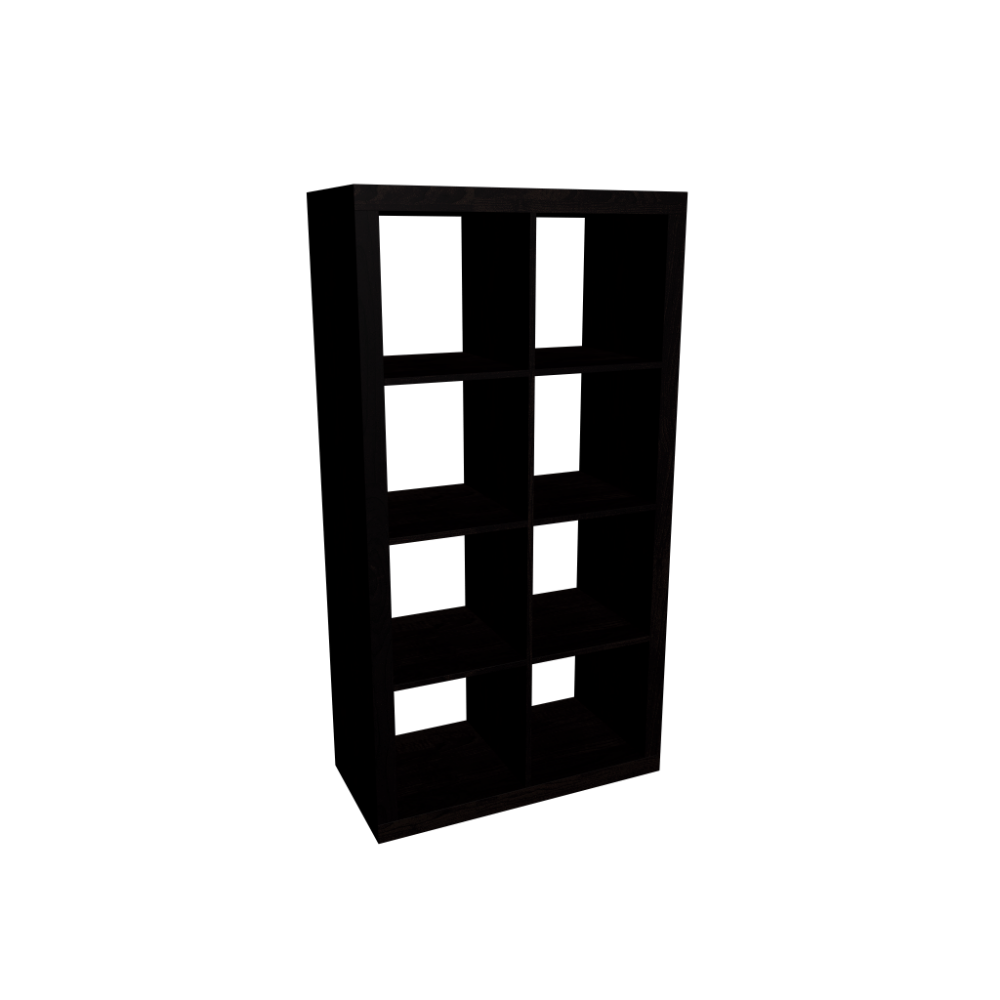 expedit shelving unit, black-brown - design and decorate your room in 3d