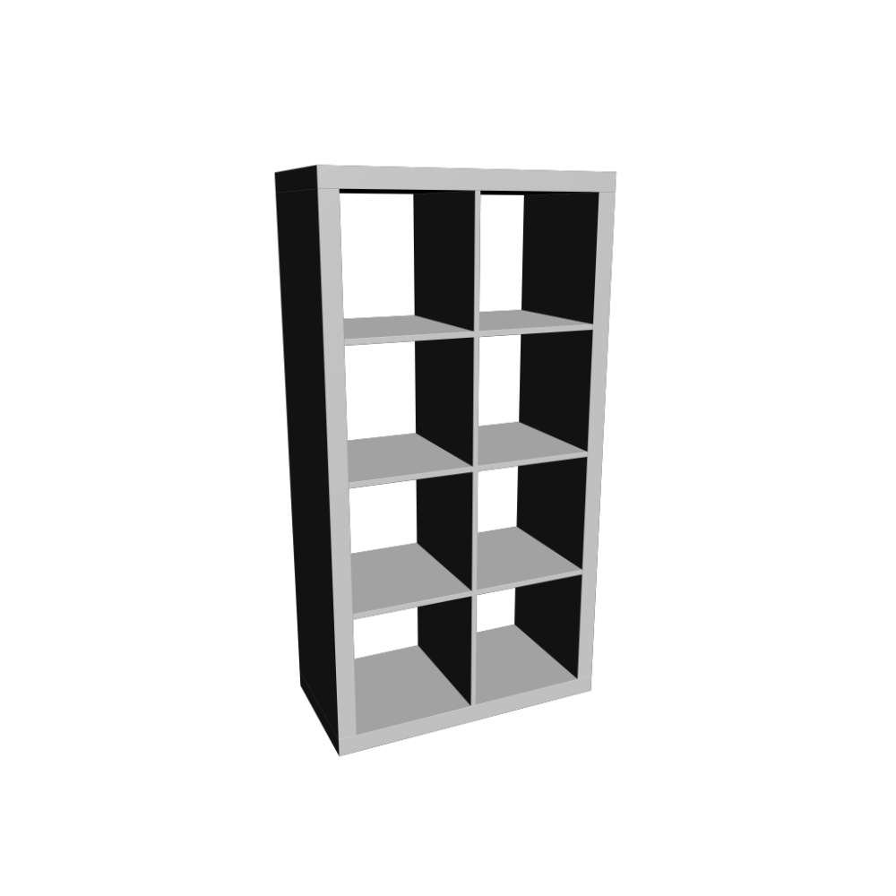 Regal ikea expedit  EXPEDIT Shelving unit, white - Design and Decorate Your Room in 3D