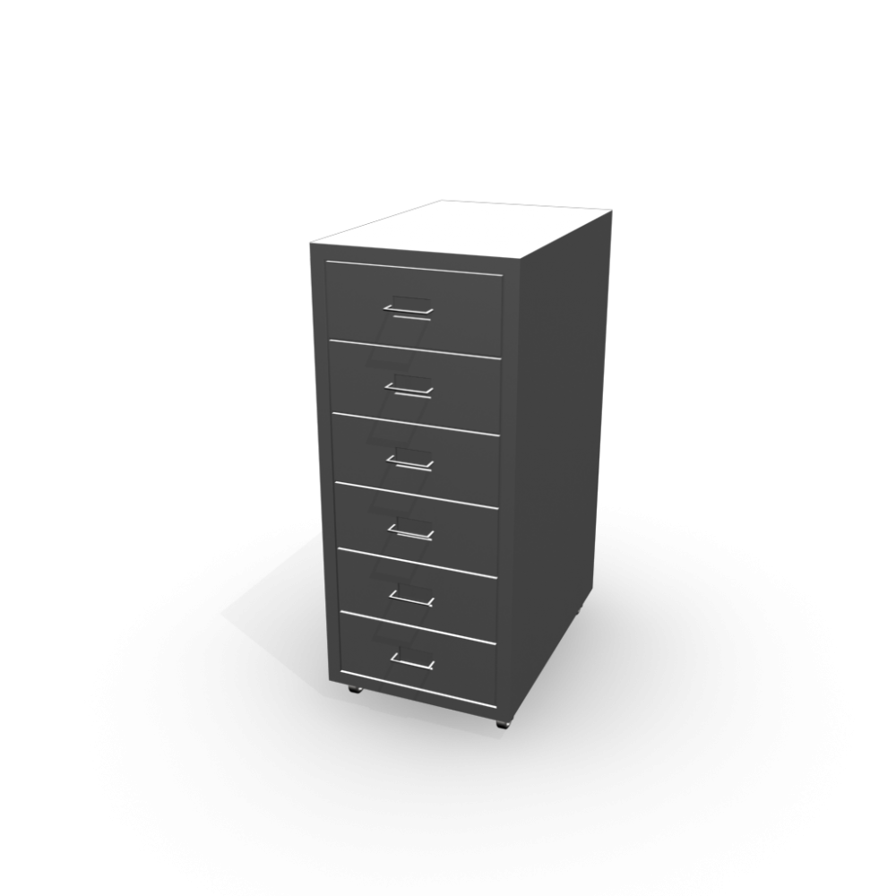 helmer drawer unit on casters silver color design and decorate your room in 3d. Black Bedroom Furniture Sets. Home Design Ideas
