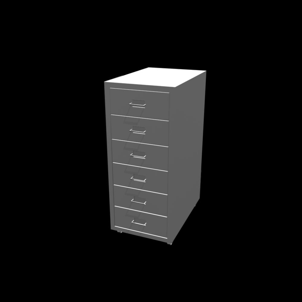 helmer schubladenelement auf rollen wei einrichten planen in 3d. Black Bedroom Furniture Sets. Home Design Ideas