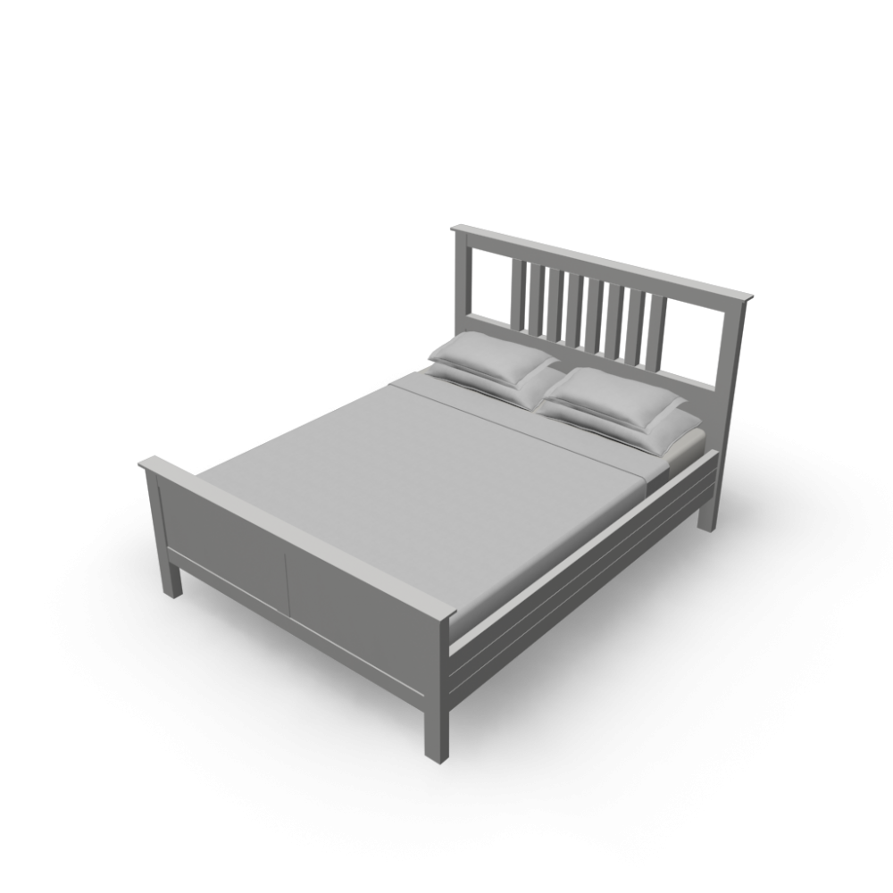 Ikea hemnes queen bed white for Ikea mattress frame